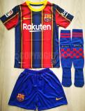 Compleu Echipament fotbal pentru copii FC BARCELONA Messi model 2020-2021