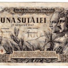 Bancnota 100 lei 1947  27 august