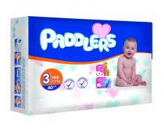 280 Buc Scutece Padddlers, -35%, Midi, 4-9 Kg, 5- 9 luni, Marime 3 foto