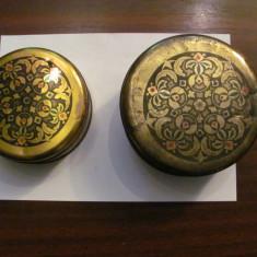 GE Lot 2 cutii marimi diferite halva / negru - rosu - verde / Bulgaria comunista