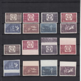 1958 LP 463 LP 463 a CENTENARUL MARCII POSTALE ROMANESTI DANTELAT+NEDANTELAT MNH