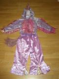 costum carnaval serbare animal unicorn ponei pentru copii de 5-6 ani