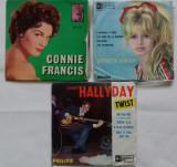 SINGLE BRIGITTE BARDOT - CONNIE FRANCIS - JOHNNY HALLYDAY, VINIL