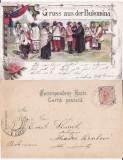 Salutari din Bucovina-tipuri, iudaica- litografie, editura Leon Konig ,RRR