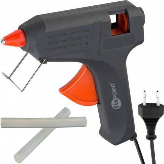 Pistol de lipit cu silicon, 40W, diametru 11 mm, 2 rezerve, IP20, negru