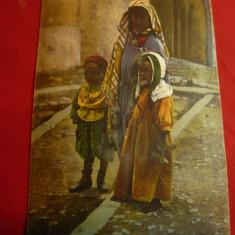 Ilustrata Costume Populare Arabe - Bastinasa cu 2 copii