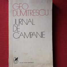 Jurnal de campanie - Geo Dumitrescu (dedicatie, autograf)