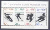 Germany Bundes 1971 Olympic Winter Games Sapporo perf. sheet Mi.B6 MNH DA.208