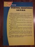 Afis CEC perioada comunista romanesc RSR