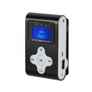 Mp3 player Quer, functie reportofon, slot MicroSD, afisaj digital, Negru
