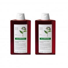 Pachet Sampon cu extract de chinina si Vitamina B Klorane 2 x 400 ml