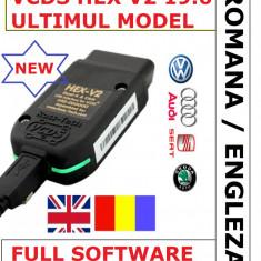 Interfata auto VCDS VAG COM 19.6 Hex V2 limba Romana Engleza
