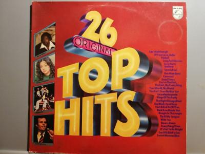 26 Top Original Hits – Selectii – 2LP Set ( 1979/Philips/RFG) - Vinil/Vinyl/NM foto