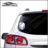 Skull Chevrolet -Stickere Auto-Cod:VIS-073-Dim. 15 cm. x 11.9 cm.