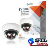 Camera de supraveghere falsa CCTV dome cu LED-uri IR, Konig