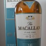 Whisky Macallan 15 ani  fine oak 43%, sigilat, timbru