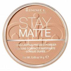 Pudra matifianta rezistenta la transfer Rimmel Stay Matte 018 Creamy Beige 14 gr