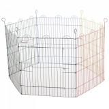 PawHut Tarc Modular pentru Animale in Sarma Metalica Vopsita Colorata 6 Module 79 x 60 cm