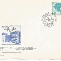 (No4) FDC ROMANIA-L.P.662a-40 de ani de telefonie automata * rar