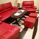 Set canapea extensibila, 2 fotolii, 2 tabureti