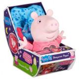 Peppa Pig - Jucarie de plus cu sunete 'Pijama Party' 18cm, Bandai
