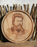 Pirogravura Ion Creanga