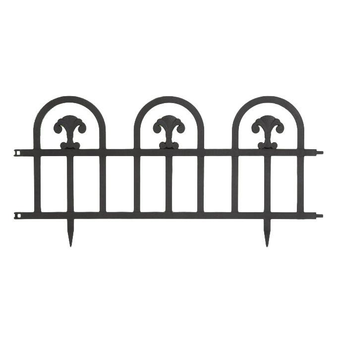 Bordura Gardulet Decorativ Plastic pentru Gazon sau Flori, Dimensiuni 60x30cm, Negru