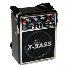 Radio MP3 portabil Waxiba XB-1081U, 3 benzi, Negru