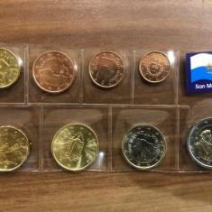 SET 8 monede euro SAN MARINO ani mixati (a II-a serie) - UNC
