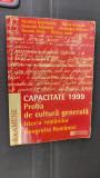 CAPACITATE PROBA DE CULTURA GENERALA ISTORIA ROMANILOR GEOGRAFIA HUMANITAS