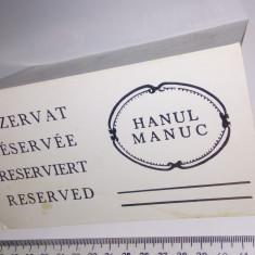 LOT CARTON REZERVAT HANUL LUI MANUC /CALENDAR NADIA 1977 MARE/VEDERE PARC CAROL