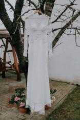 Rochie de mireasa sirena, marime 36 foto