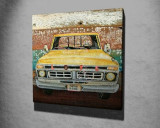 Tablou decorativ, Vega, Canvas 100 procente, lemn 100 procente, 45 x 45 cm, 265VGA1068, Multicolor