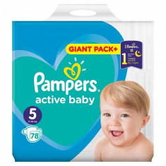Scutece Pampers Active Baby 5 Giant Pack, 11-16 kg, 78 bucati