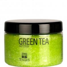 Sare Exfolianta pentru Corp TREETS cu Ceai Verde 450 ml