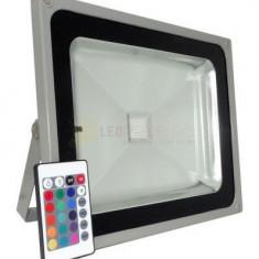 PROIECTOR CU LED 50W RGB + TELECOMANDA
