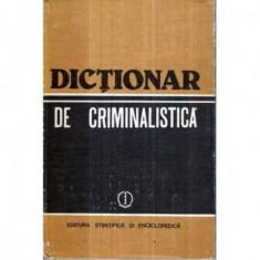 Dictionar de criminalistica