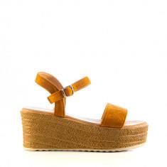 Sandale dama Minerva camel