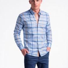 Camasa premium, casual, barbati - K493-albastru-deschis