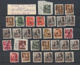 ROMANIA 1945 Ardealul de Nord Oradea I lot rar 30 timbre locale stampilate