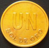Moneda exotica 1 SOL DE ORO - PERU, anul 1975   *Cod 4498, America Centrala si de Sud