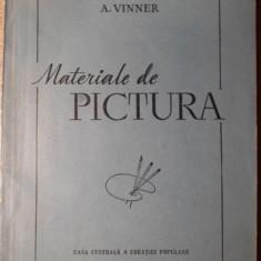 MATERIALE DE PICTURA. ULEI, ACUARELA, GUASE, TEMPERA SI CULORI DE CLEI - A. VINN
