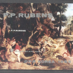 Korea 1983 Paintings, Rubens, imperf. sheet, used T.280