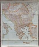 Harta Europei de Sud-Est// tiparita la Viena, 1941
