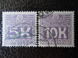 AUSTRIA-TIMBRE PORTO-SERIE COMPLETA-STAMPILATE, Stampilat