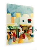 Tablou pe panza (canvas) - August Macke - Market in Tunis I