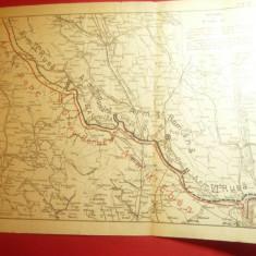 4Harti Militare Romania cu Situatia Frontului la 24 ,28 iul. si 8+26 aug.1917