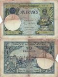 1937 , 10 francs ( P-36a.2 ) - Madagascar