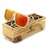 Ochelari de soare din lemn Bobo Bird, lentila portocalie Wooden Lux