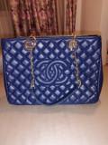 Geanta Chanel Caviar, Bleu, Mare